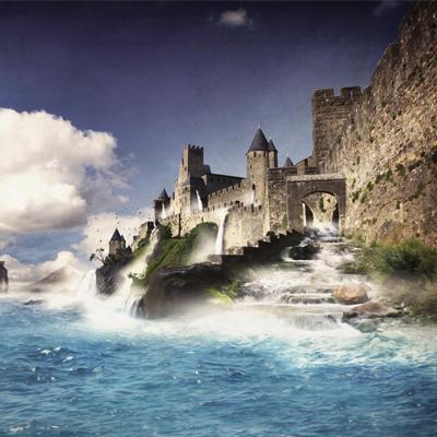 photomontage – Carcassonne sous les eaux