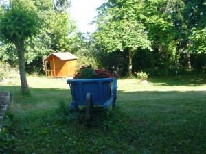 location carcassonne vacances gite notre jardin jeux enfants portique balançoires