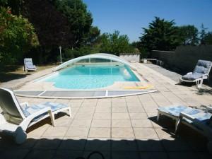 Notre piscine location gîte conques sur orbiel vacances
